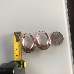 Jewelry - 10k Rose Gold Hoops